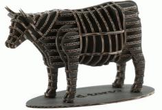 Cow 3d Puzzle Laser Cut Template Free PDF File