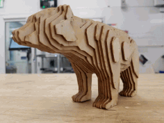 Laser Cut Bear Free PDF File