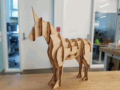 Laser Cut Unicorn Free PDF File