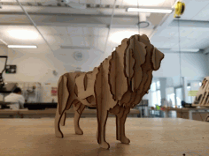 Laser Cut Lion 3d Model Free PDF File