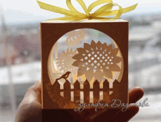 Laser Cut Paper Cut Light Box Free CDR Vectors Art