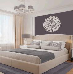 Mandala Wall Clock Free CDR Vectors Art