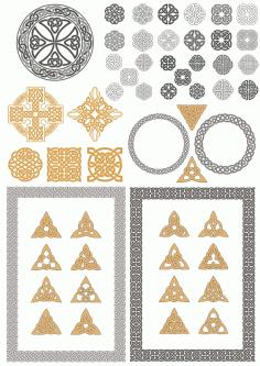 Celtic Ornaments Free CDR Vectors Art