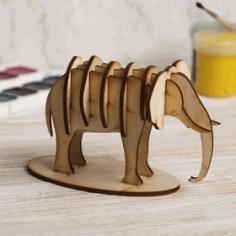 Elephant 3d Model 3mm Free CDR Vectors Art