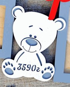 Laser Cut Teddy Bear Metric Free CDR Vectors Art