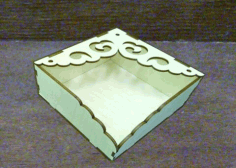 Laser Cut Tissue Paper Napkin Holder Free CDR Vectors Art