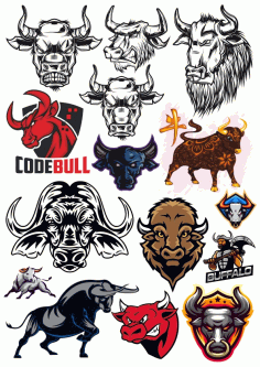 Bulls Set Free CDR Vectors Art