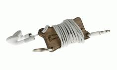 Laser cut Earbud Wrap Keychain Free CDR Vectors Art