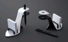 Laser Cut High Heel Shoe Business Card Pen Holder Girly Desk Accessories Free CDR Vectors Art