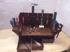 Laser Cut Bench Top Tool Organizer Workshop Tool Holder Free CDR Vectors Art