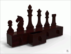 Laser Cut Organizer Chess 4mm Free CDR Vectors Art