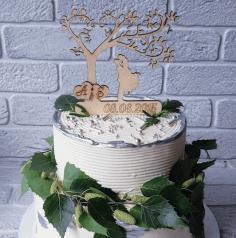 Laser Cut Wedding Cake Topper Free CDR Vectors Art
