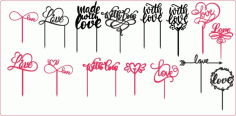 Love Cake Toppers Free CDR Vectors Art
