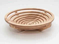 Archimedes Spiral Bowl Laser Cut Cnc Plans Free PDF File