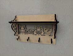 Hook Rack Entryway Shelf Free CDR Vectors Art
