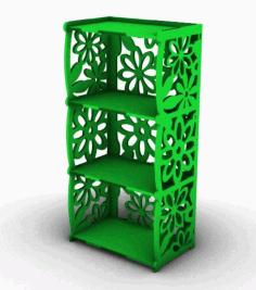 Laser Cut 4 Shelf Bookcase Free CDR Vectors Art