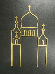Laser Cut Wedding Acrylic Cake Topper Free CDR Vectors Art