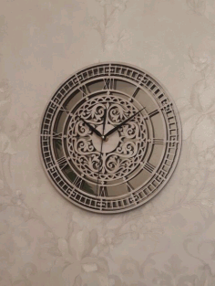 Laser Cut Carved Wall Clock Free CDR Vectors Art