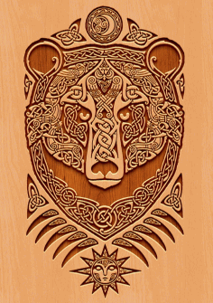 Engraved Bear Free CDR Vectors Art