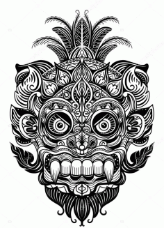 Laser Cut Engrave Maori Skull Patterns Designs Free CDR Vectors Art