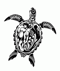 Laser Cut Engrave Maori Turtle Patterns Designs Free CDR Vectors Art