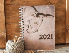 Laser Engraving Bull Image 2021 Free CDR Vectors Art