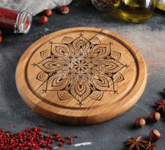 Laser Engraving Design Food Serving Board Free CDR Vectors Art