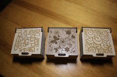 Laser Cut Decorative Boxes Free AI File