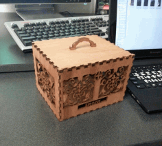 Laser Cut Decorative Wooden Box Template Free AI File