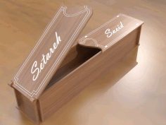 Laser Cut Gift Box Template Free AI File