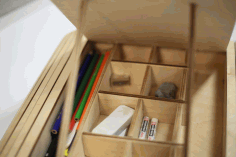 Laser Cut Storage Box Wooden Free AI File