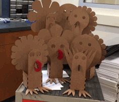 Laser Cut Turkey Box Thanksgiving Ideas Turkey Craft Free AI File