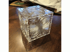 Laser Cut Twirl Box Free AI File