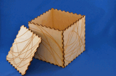 Laser Cut Wood Box Template Free AI File