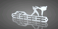 World Taekwondo Federation Medal Hanger Free DXF File