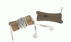 Earbud Wrap Keychain Free DXF File