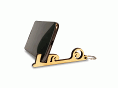 Laser cut Keychain Cell Phone Holder Free DXF File