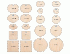 Laser Cut Wooden Basket Bases Free CDR Vectors Art