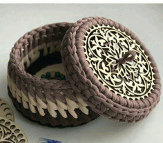 Laser Cut Wooden Bottoms For Knitting Baskets Crochet Basket Bases Free CDR Vectors Art