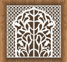 Laser Cut Decorative Screen Design Seamless Free CDR Vectors Art