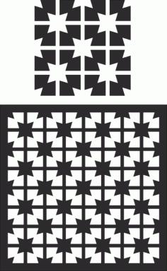 Laser Cut Decorative Screen Pattern Free CDR Vectors Art