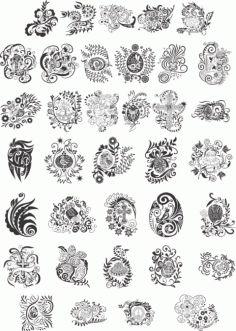 Easter Patterns Free CDR Vectors Art