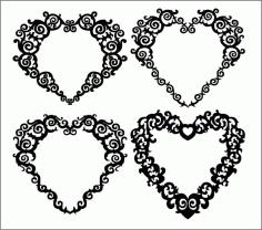 Hearts Patterns Free CDR Vectors Art