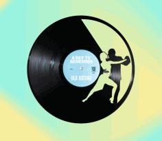 Laser Cut Dancing Couple Vinyl Clock Free CDR Vectors Art