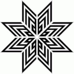 Abstract Arabesque Arabic Geometric Islamic Art Free AI File