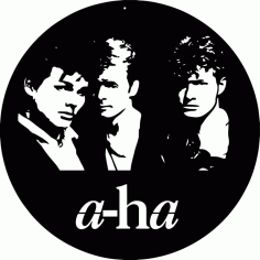Laser Cut a-ha Vinyl Clocks Free CDR Vectors Art