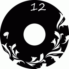 Laser Cut Flowers Vinyl Record Wall Art Clock Template Free CDR Vectors Art