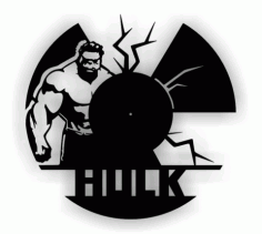Laser Cut Hulk Cutting Vinyl Clock Free CDR Vectors Art