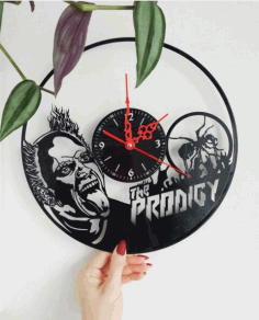 Laser Cut The Prodigy Vinyl Record Wall Clock Free CDR Vectors Art