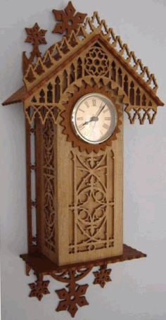 Laser Cut Wooden Antique Wall Clock Template Free CDR Vectors Art